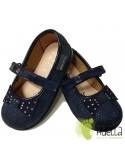 Merceditas Niñas Zapy con Velcro Azules