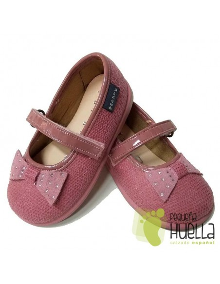 Merceditas Niñas Zapy con Velcro Rosas