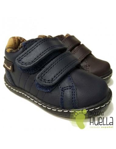 Botita Niños Piel con Velcro