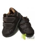 Botita Niños Piel con Velcro Marrones