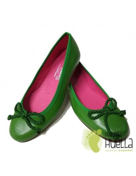 Bailarina Piel Verde