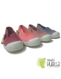 Zapatillas Niñas Lona con Puntera, La Cadena