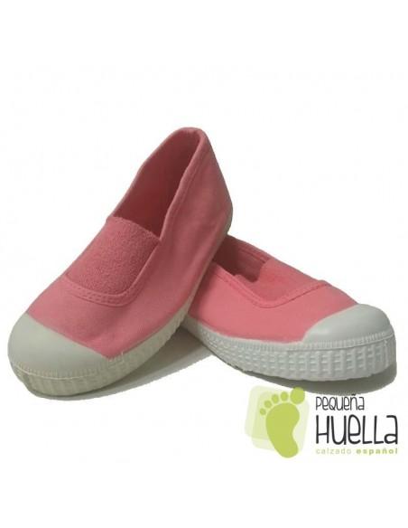 Zapatillas Niñas Lona Coral con Puntera, La Cadena