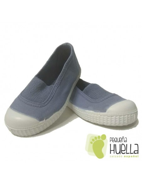 Zapatillas Niñas Lona Azul Azafata con Puntera, La Cadena
