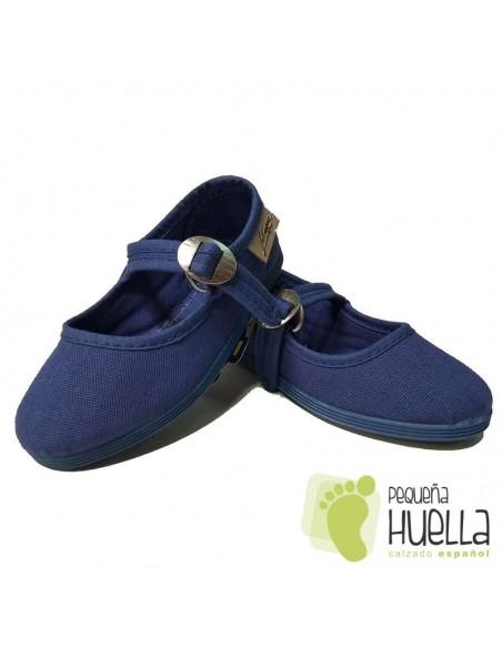 Merceditas Niña Lona La Cadena Azul Jeans