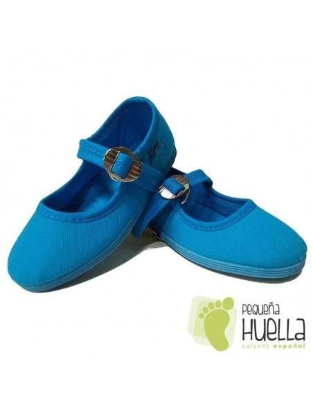 Merceditas Niña Lona La Cadena Azul Turquesa