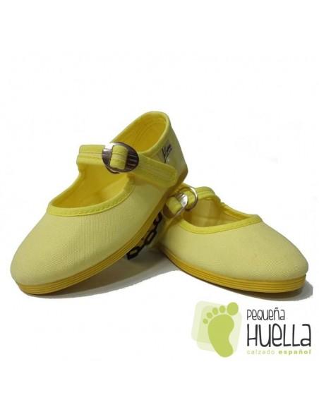 Merceditas Niña Lona Amarillas Limón La Cadena