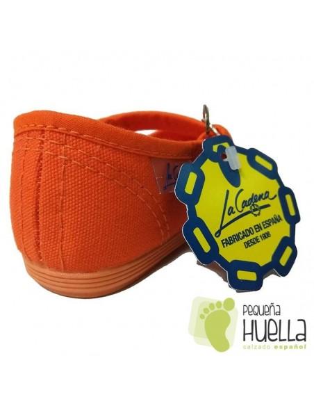 Merceditas La Cadena Niñas Lona Naranjas