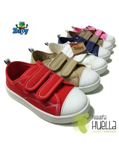 Zapatillas Lona para niños y niñas velcros Zapy 528