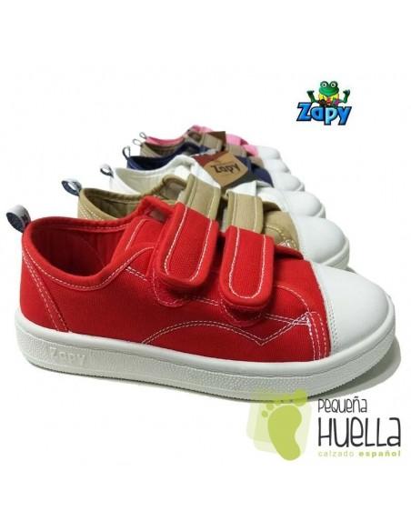 Zapatillas Lona para niños y niñas con velcros Zapy 528
