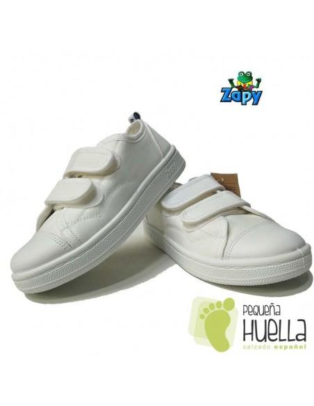 Zapatillas Lona Blancas Zapy