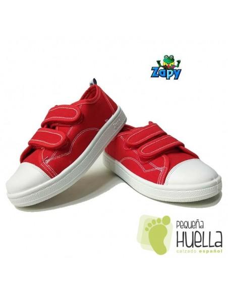 Zapatillas Lona Rojas Zapy