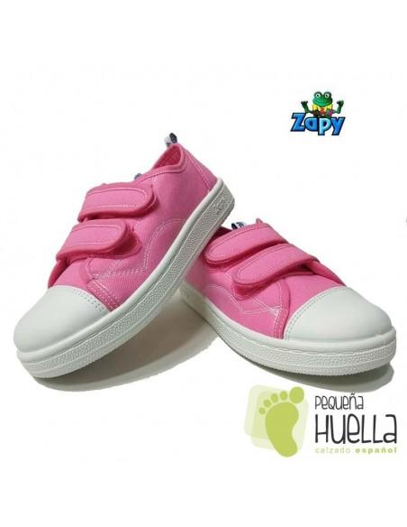 Zapatillas Lona Rosas Zapy