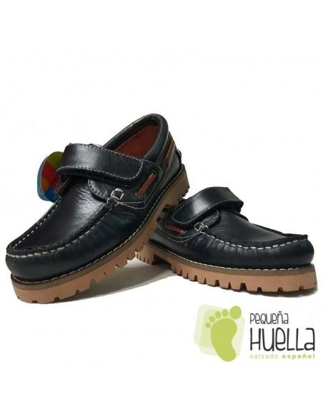 Náuticos Niños Niñas Azules con Velcro Dar2