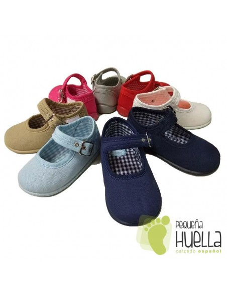 Merceditas Lona para niña bebé con Hebilla Zapy 1006
