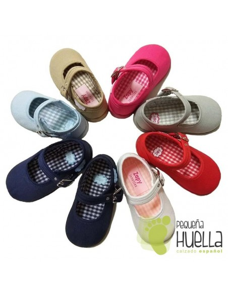 Merceditas Lona para bebes y niñas con Hebilla Zapy