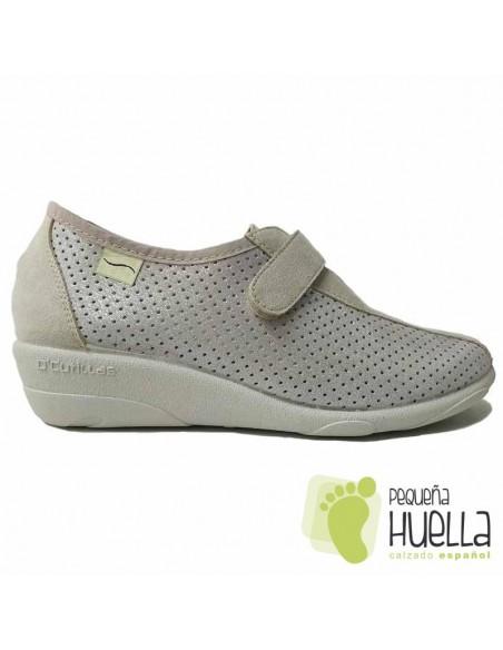 Zapatos Beige Salinas Cómodos Doctor Cutillas 3176