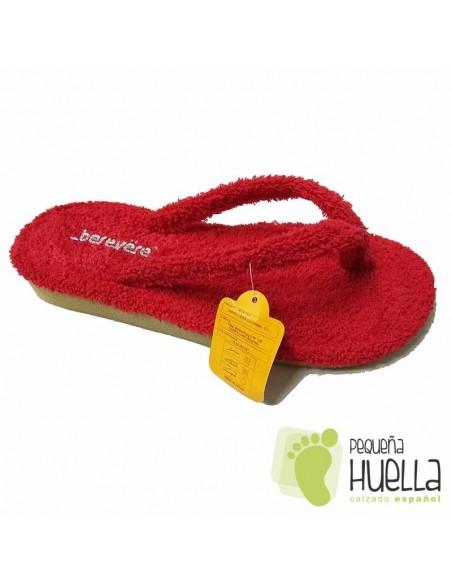 Zapatillas de casa Rojas Berevere 9301