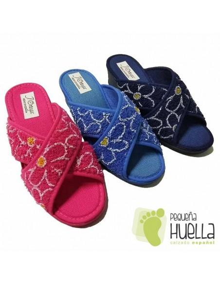 Zapatillas de Rizo Abierta y Cruzada Rizo para Mujer J. Ortega