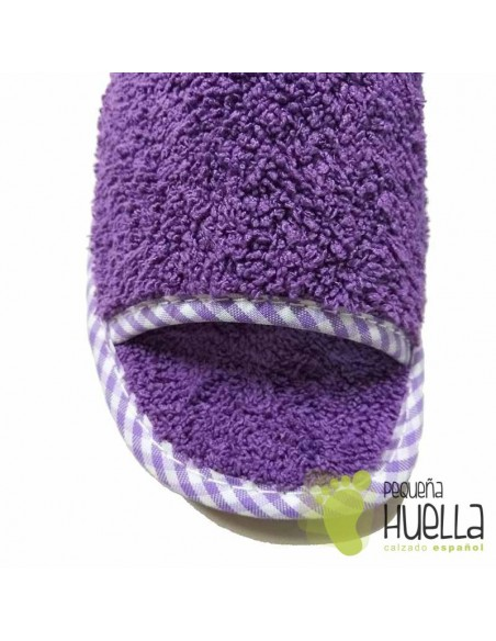 Zapatillas de casa toalla de algodón chicas Berevëre