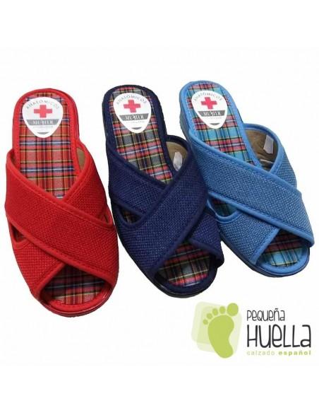Zapatillas Mujer Cruzadas con Cuña Muyter