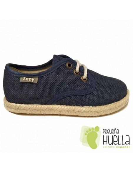 Blucher Alpargata Lino Azul Marino para Niños
