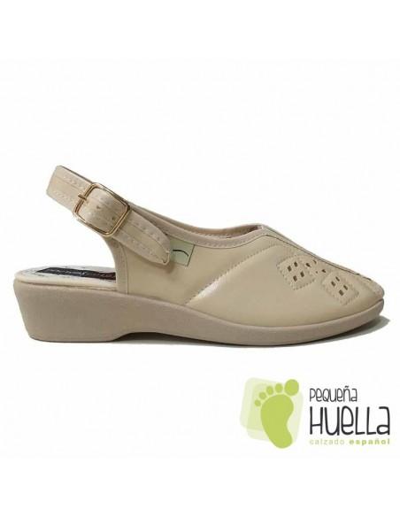 Sandalias Señora Beige