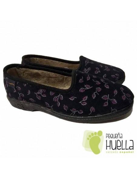 Zapatillas Casa Señora Negras
