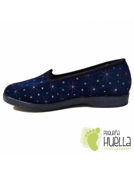 Zapatillas Casa Señora Azul Marino