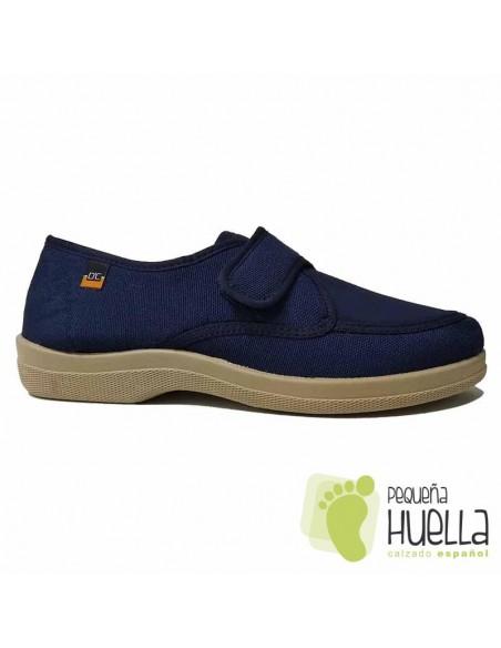 Zapatillas de tela Azul Marino con velcro Doctor Cutillas 21300