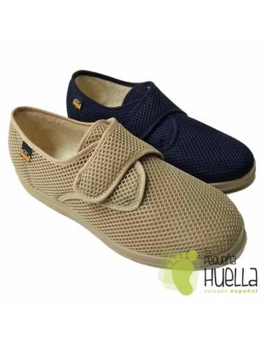 De Velcro Doctor Con Zapatillas Cutillas 21310 Caballero Tela mNvO80ywn