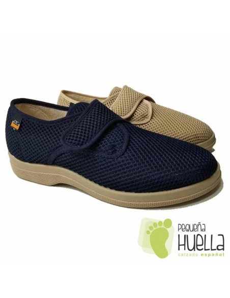 Zapatillas Caballero de tela con velcro Doctor Cutillas 21310