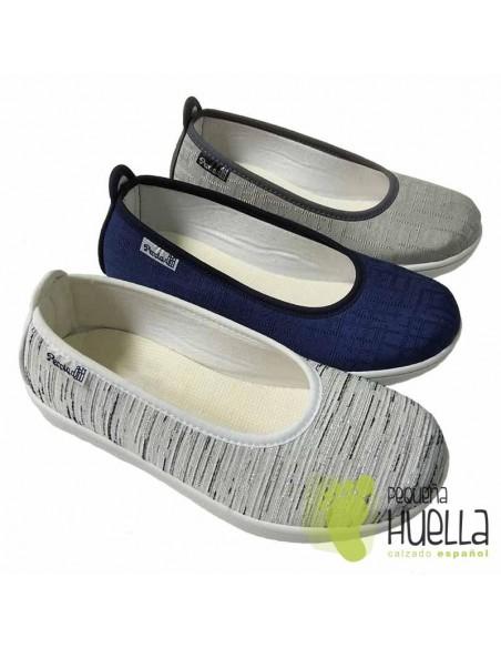 Zapatillas Tela Mujer, LA PERCLA