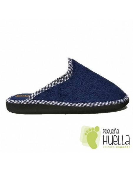 Zapatillas de Toalla Azul Marino para Casa Doctor Cutillas 24503