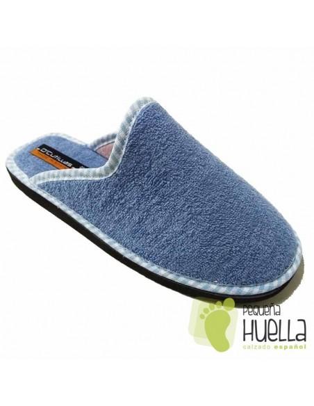 Zapatillas de Toalla Azul Celeste para Casa Doctor Cutillas 24503
