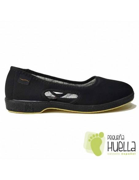 Zapatillas Negras Señora Doctor Cutillas 414