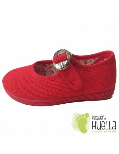 Zapatillas de lona para chicas rojas
