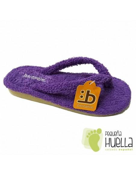 Zapatillas de casa Moradas Berevere 9301