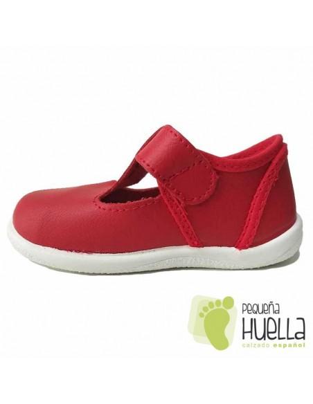 Pepitos Piel Rojos para Niños Con Hebilla