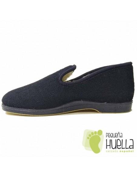 Zapatillas lana azules de casa Caballero Doctor Cutillas 182