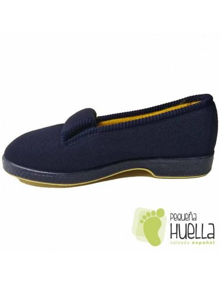 Zapatillas Casa Paño azul Señora Mayor Doctor Cutillas 472
