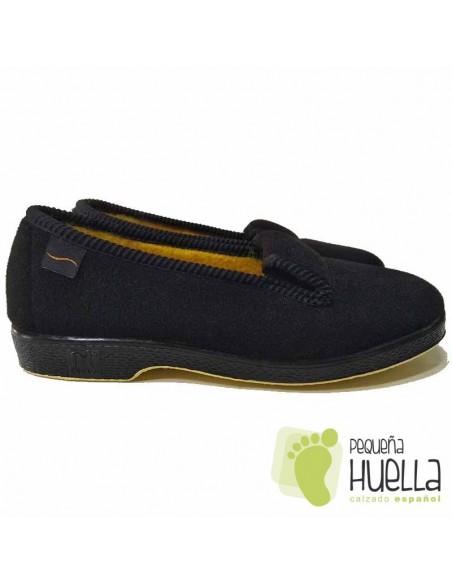 Zapatillas Negras Planas Abuelas Doctor Cutillas 472