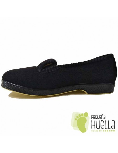 Zapatillas Casa Paño Negro Señora Mayor Doctor Cutillas 472