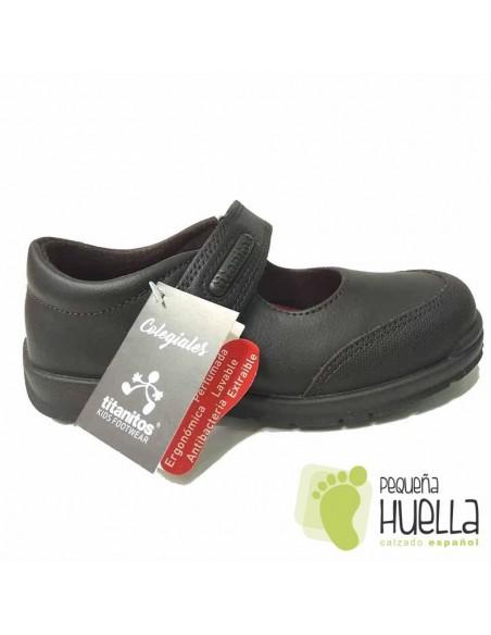 Zapatos Colegiales Niñas Marrones Titanitos Atenea C840