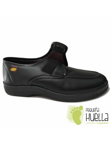 Zapatillas Negras con velcro Doctor Cutillas 21296