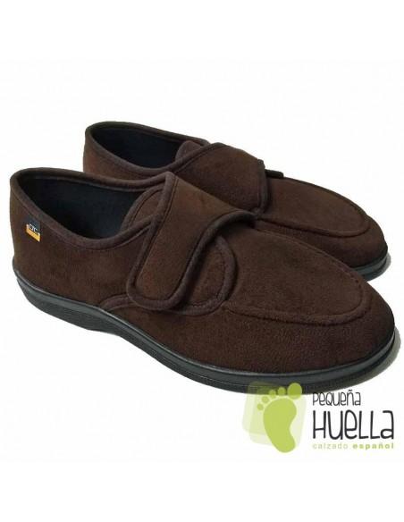 Zapatillas Marrones de Caballero con velcro Doctor Cutillas 21292