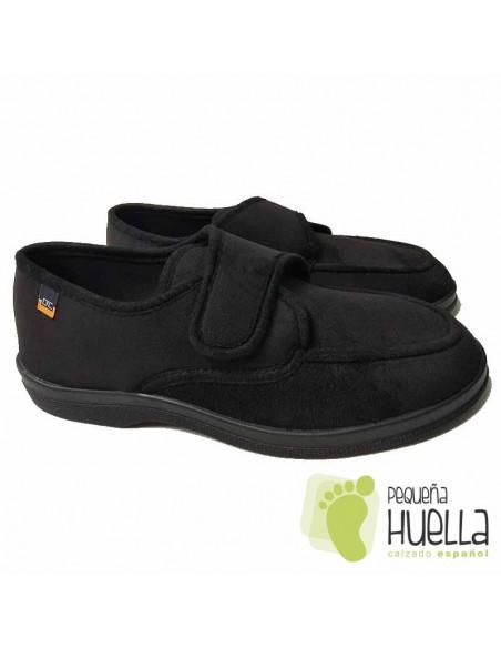 Zapatillas Negras de Caballero con velcro Doctor Cutillas 21292