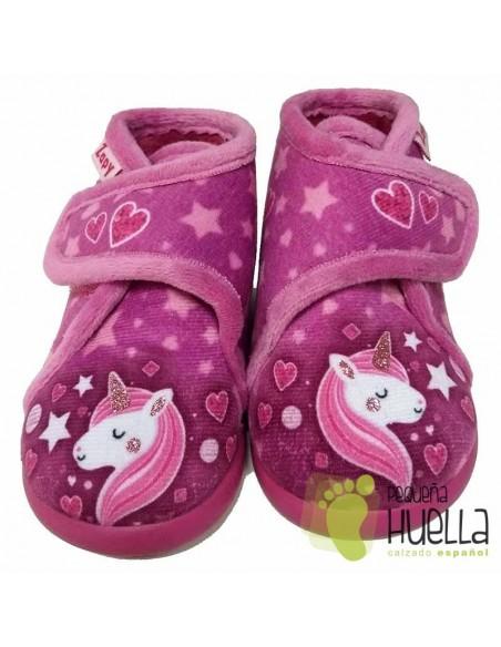 Botitas de Casa para Niñas Unicornio Zapy