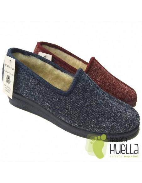 DOCTOR CUTILLAS Zapatillas de lana para Casa de Mujer 9454