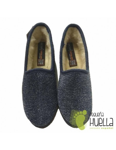 DOCTOR CUTILLAS Zapatillas de lana azules para Casa